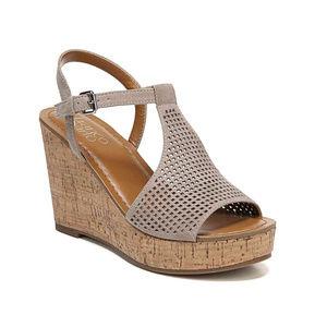 Franco Sarto Clinton 2 Open Toe Wedge Sandal 7.5